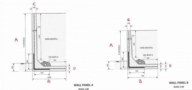 Retaining Wall L Shape Maddington Concrete Products